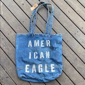 NWT- American Eagle Denim Tote Bag